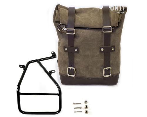 Вощеная боковая сумка Side Pannier + подрамник NineT