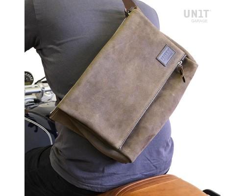 Вощеная замшевая сумка