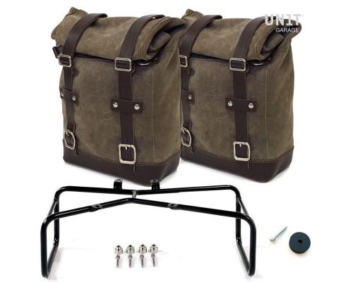 Две вощеные замшевые сумки + двойной подрамник RnineT