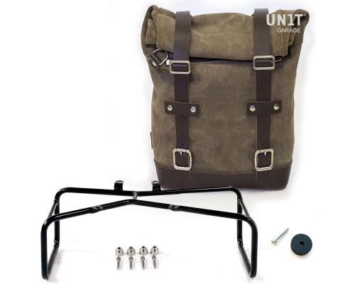 Вощеная сумка Side Pannier + двойной подрамник NineT
