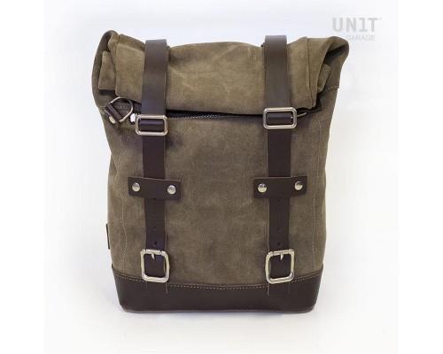 Замшевая вощеная сумка