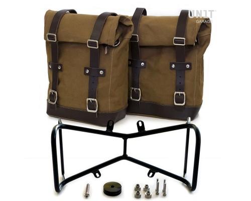 Две боковые сумки + симметричный двойной подрамник NineT