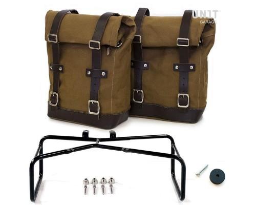 Две боковые сумки + двойной подрамник nineT
