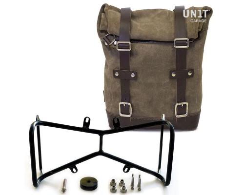 Вощеная сумка Side Pannier + симметричный двойной подрамник NineT
