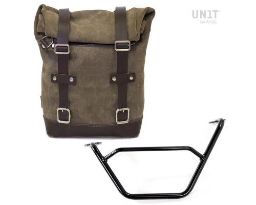 Вощеная боковая сумка + подрамник