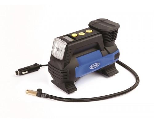 Цифровой автоматический воздушный компрессор 12В со светодиодным фонарем