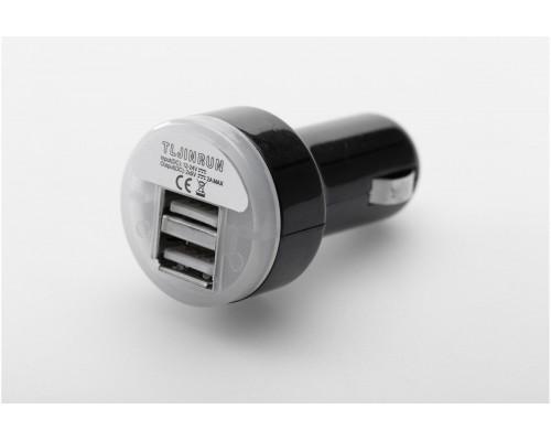 Адаптер 2x USB к гнезду прикуривателя 12В