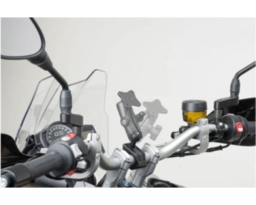 Крепление для навигатора/телефона с шаром Ø1 дюйм на любой руль(22-28мм)
