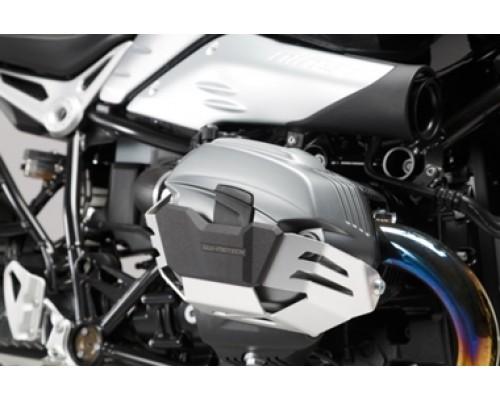 Защита цилиндров, черный/серебристый R1200R/GS/Adv/nineT/Scrambler