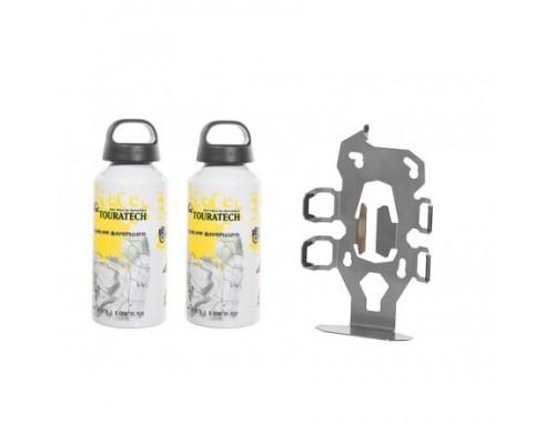 Набор, держатель для 2-х бутылок Touratech ZEGA Pro2