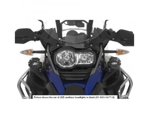 Комплект дополнительных светодиодных фар (П - противотуманная, Л - дальний свет) для BMW R1200GS Adventure LC, черные