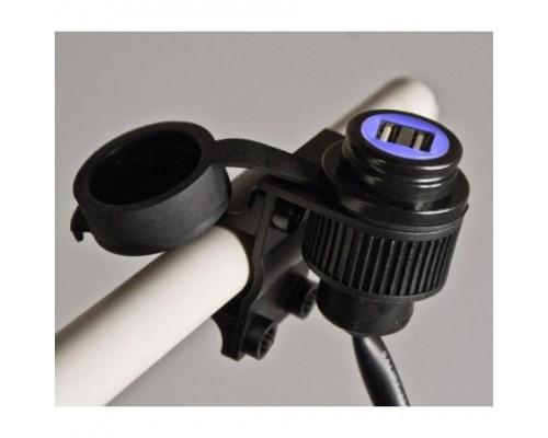 Двойной разъем USB для мотоциклов 12-24, для руля 22 мм / 25,4 мм