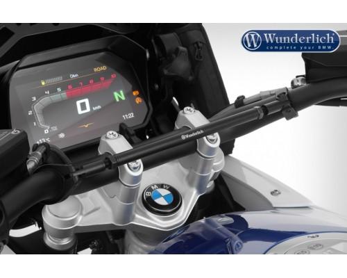 Распорка руля BMW G310R, G310GS, черная/серебристая