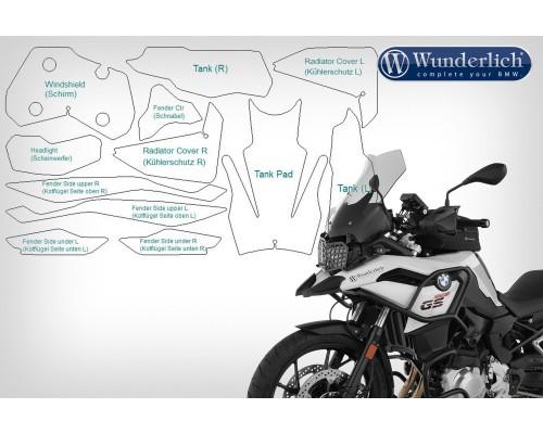 Комплект защитных пленок VentureShield на BMW F 750 GS (2018 -) - прозрачные