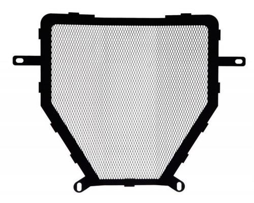 Защита радиатора охлаждения (решетка) BMW K1200/1300R/S/GT/Sport черный-серебро