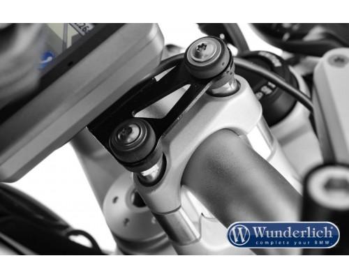 Проставки руля (с GPS) 25 мм BMW R1200R LC/RS LC серебро