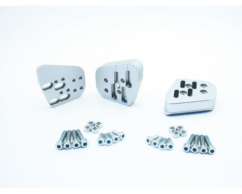Проставки руля VarioErgo до 50 мм BMW R1200RT(10 -`13) серебро