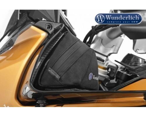 Сумка на боковые спойлеры BMW S1000XR - черная