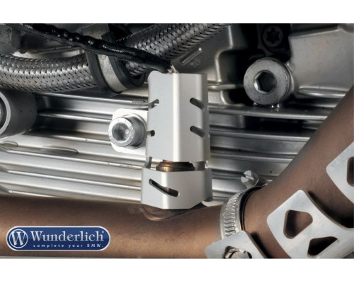 Защита лямбдазонда BMW R1200GS/GSA/R NineT, правый, серебро