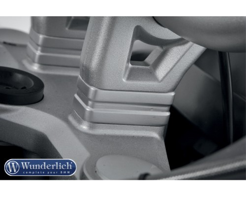 Проставки для повышения руля 20мм BMW R1200GS/GSA - серебро